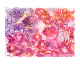 Watercolor Blossoms, Blossoms Print, Abstract Flower Print, Flower Print
