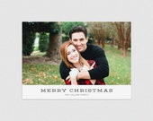 Merry Christmas  |  Minimal typographic holiday photo card