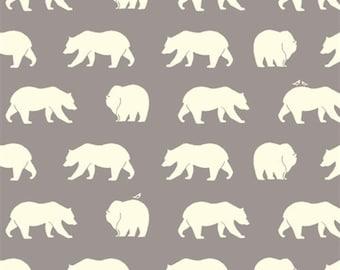 Bear Hike (Shroom) - Bear Camp - Birch Fabric - Organic Cotton - 1 Yard