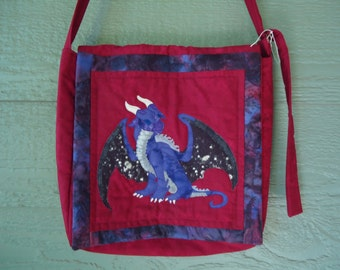 Dragon Purse / Quilted Dragon / Fantasy Art / Hand Made