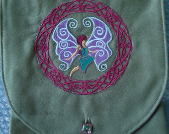 Fairy Embroidered Belt Pouch / Festival Pouch / Hip Pouch