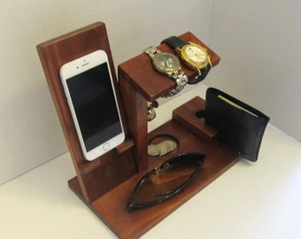 Docking Valet | Docking Station Men | Docking station Wood | Docking station organizer |