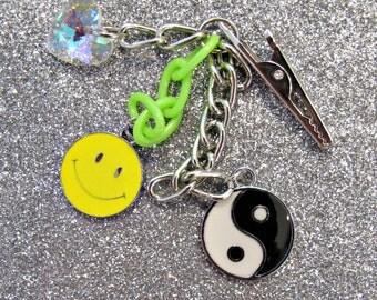 heart smiley yin yang roach clip