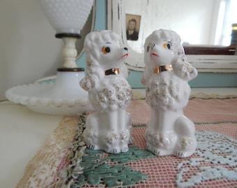Vintage Porcelain Poodles