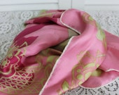 Vintage Silk Scarf Pink Abstract