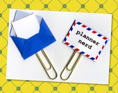 Planner Accessories - Planner Nerd Paper Clip -Planner Paperclips - Pocket Letter Clip - Tiny Envelope - Planner Paperclip - Gift Tag