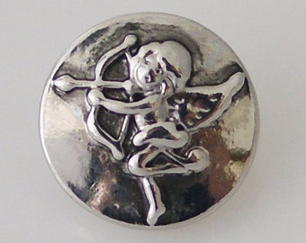 1 PC 12MM Cupid Love Silver Candy Snap Charm Jewelry kb5527-s CC1782