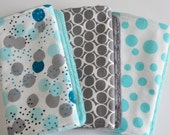 Gender Neutral Baby Burp Cloths, Baby Boy Burp Cloths, Baby Burp Cloths, Light and Shade, Set of 3 baby burp cloths