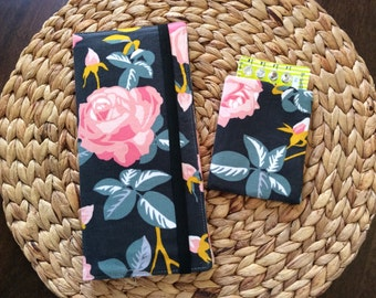 Travel Wallet Set for Passport and Boarding Passes Plus Matching Birth Control Sleeve International Long Passport Holder, Travel Accessory
