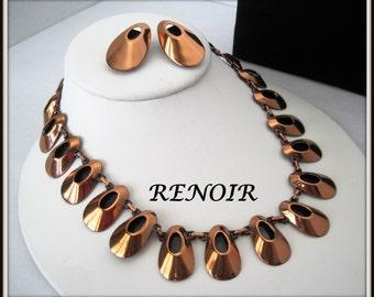 Renoir Copper Necklace Set - Honey Bear - Black Enamel