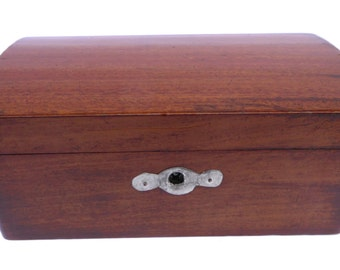 Edwardian Mahogany Church Collection Box Made in England Vintage Box Antique Box Vintage Woodenware Domed Lid Box