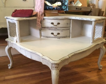 Shabby Chic  1950's French End/Side/Corner Table