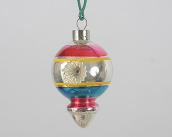Vintage Christmas Ornament Glass Christmas Ornament Made In USA B3