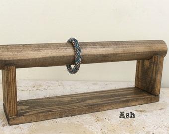 Wood Jewelry Display, Bracelet Display, Bracelet Stand, Bracelet Holder, Jewelry Organizer, Choose the Color