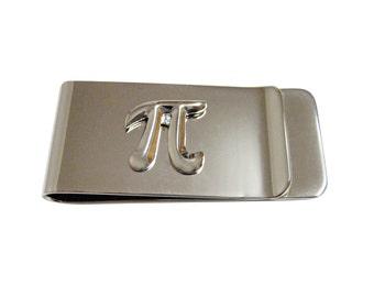 Math Pi Symbol Money Clip