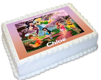 Personalised A4 Edible Cake Topper - Tinkerbell
