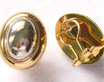 RCI 14K White & Yellow Gold Oval Earrings.