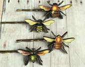 Bee Hair Pin Insect Accessory Bumblebee Barrette Gift For Gardener Save The Bees