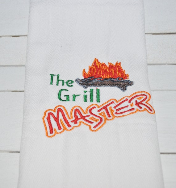 Kitchen Towel ~ The Grill Master ~ Unique Wedding Gift for Bride ...