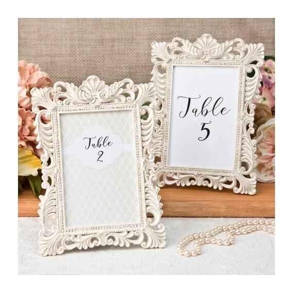 Ivory Table Number Frames Set Of 5 Size 4 X 6 Gold Leaf