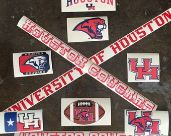5 Pack University of Houston Decal Mystery Bundle