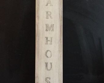 Farmhouse Sign, Wooden hand painted sign