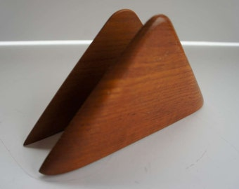 Vintage 1950s Wooden Letter Holder Mid Century Modern
