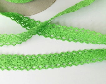 Cotton Crocheted Lace, Sewing Trim,  by Riley Blake in Lime by the Yard