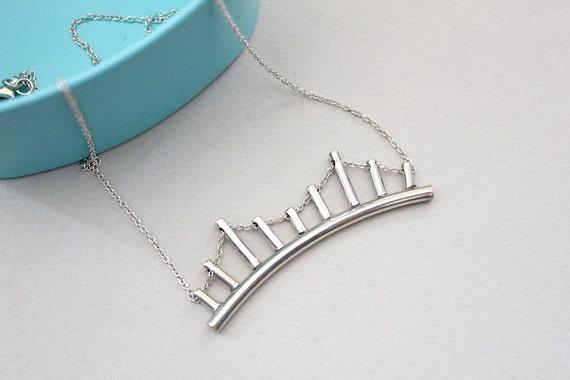 Golden gate bridge necklace brooklyn bridge necklace unusual for Golden gate bridge jewelry
