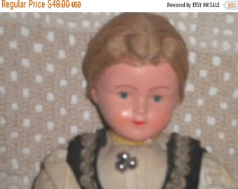 """SUMMER SALE Lovely Antique 12"""" Composition Doll, Doll Collector, Boudoir Doll"""