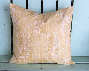 New 18x18 white,yellow sioux saffron premier prints pillow cover-accent pillow- decorative pillow cover-gifts under 40-throw pillow