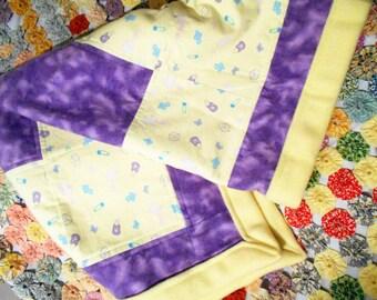 Quilt Blanket, Baby Blanket, Baby Crib Quilt, Quilt Pillow Set, Purple Yellow Baby Girl, Baby Shower Gift, Handmade Quilt, Quilt Blanket