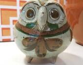 1970s Vintage Jorge Wilmot Tonala Mexican Pottery Owl Figurine