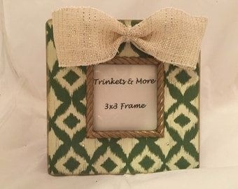 Cream with Leopard Bow Picture Frame