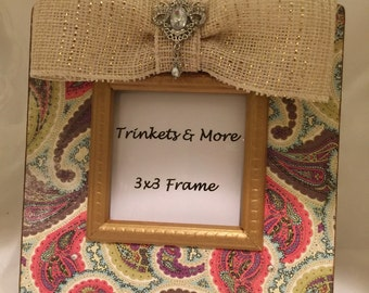 Paisley Print Picture Frame