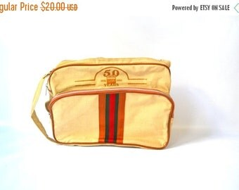 ON SALE Tan Canvas Carrying Bag