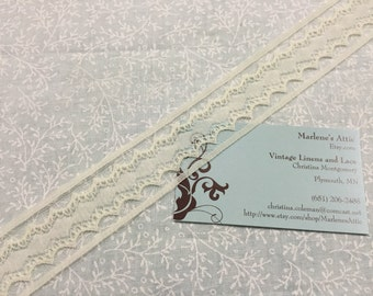 1 yard of 1 1/4 inch Pale Yellow chantilly raschel lace trim for bridal, baby, spring, lingerie by MarlenesAttic - Item 8BB