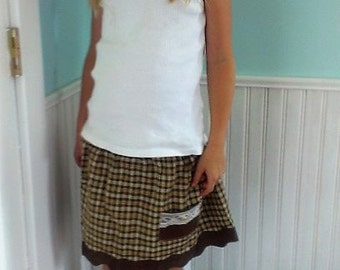 Fall Skirt | School Skirt | Plaid Skirt | Tartan Skirt | Size 5 6 | Ellie Ann and Lucy