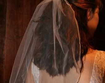 """18"""" white veil"""