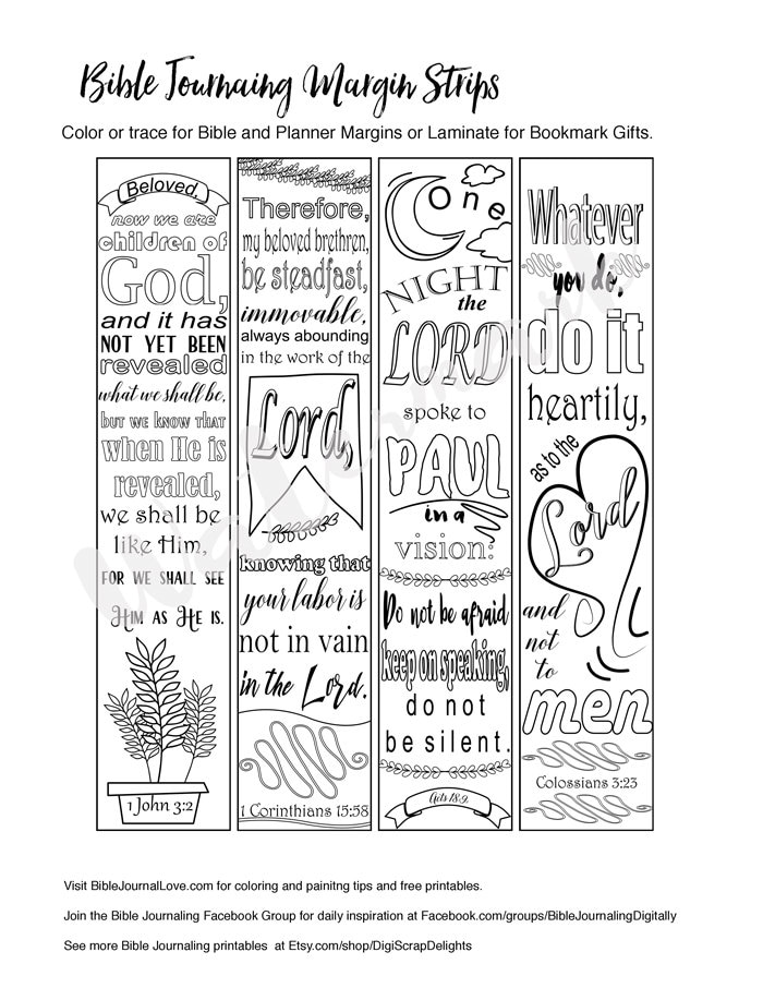 bible journaling coloring pages printable coloring bible journaling margin by