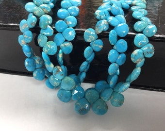 Natural Turquoise Hearts Smooth