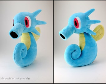 Horsea plushie - made to order