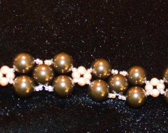 Swarovski Pearl and Seed Bead Bracelet Made To Order