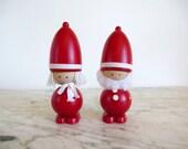 Sweden Santa and Mrs. Clause Tomte Nisse Pair Swedish Folk Art