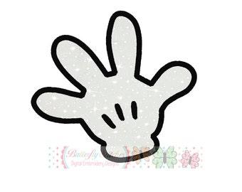 Mouse Hand Glove Machine Embroidery Applique Design