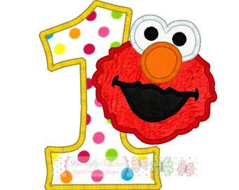 Elmo 2 Digital Machine Appliqué Embroidery Design