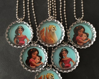 NEW Elena of Avalor Bottle Cap Party favors (6) / add more for 2 dollars each / Your choice of images