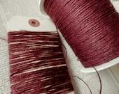 JUTE TWINE BURLAP String Burgundy Thin Strong Natural