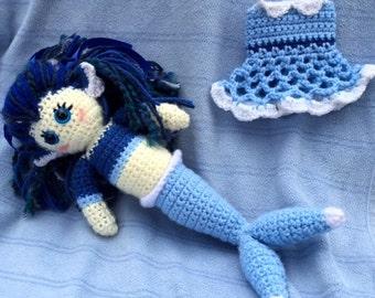 Vaporeon Pokemon Crochet Doll *PATTERN*