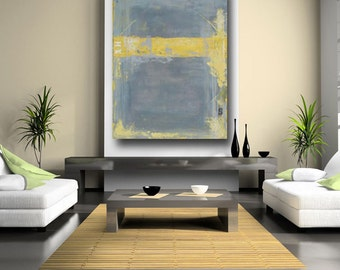 large abstract painting original acrylic american artist usa interior design living room decor art home decor wall art gray painting